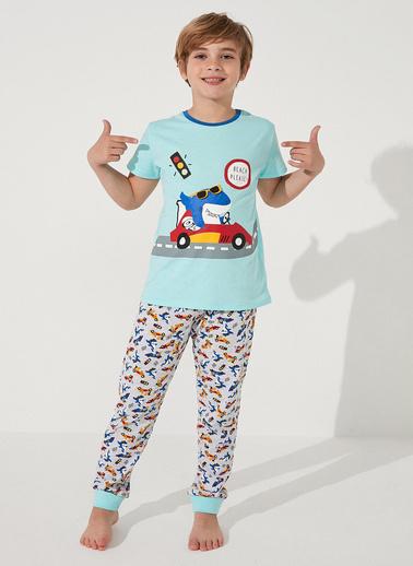 Penti Çok Renkli Boys Shark Race Ss 2Li Pijama Takımı Renkli